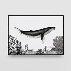 일러스트 포스터 / 인테리어 액자_the whale 01