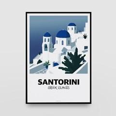 일러스트 포스터 / 인테리어 액자_santorini 02
