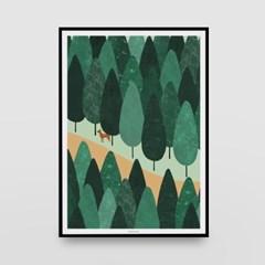 일러스트 포스터 / 인테리어 액자_path through the forest 02