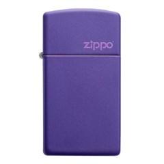 ZIPPO 라이터 1637ZL Slim® Purple Matte Zippo Logo_(2774754)