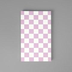 핑크 체커보드 떡메모지