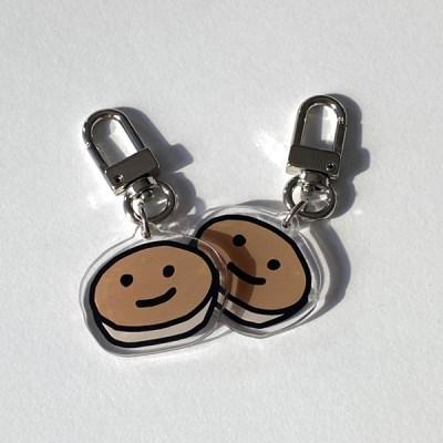 pancake key ring (acrylic)