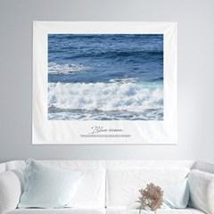 패브릭포스터 거실 인테리어 벽면 150x130 블루오션