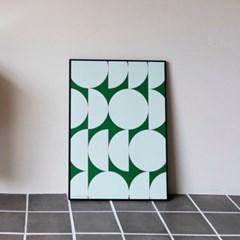 포스터 MOONY MOONIE GREEN, 30x40/50x70_(1423301)
