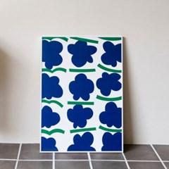 포스터 CITRUS POMPOM_BLUE, 30x40/50x70_(1423299)