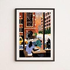 감성 일러스트 인테리어 A2,A3 아트 포스터_뉴욕