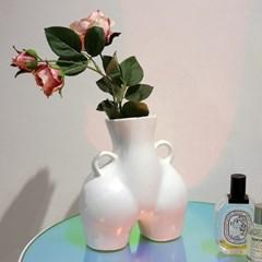 엉덩이화병 디자인 도자기 오브제 아트 인테리어 화분 꽃병