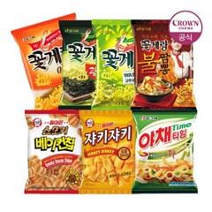 크라운 꽃게랑/광천김/와사비/불짬뽕/베이컨칩/야채타임_(2261520)