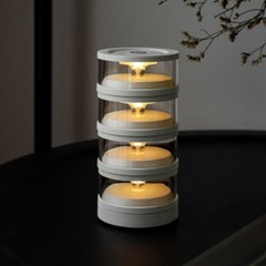모리모리 아날로그 감성의 LED 조명 라스모 라이트, 화이트