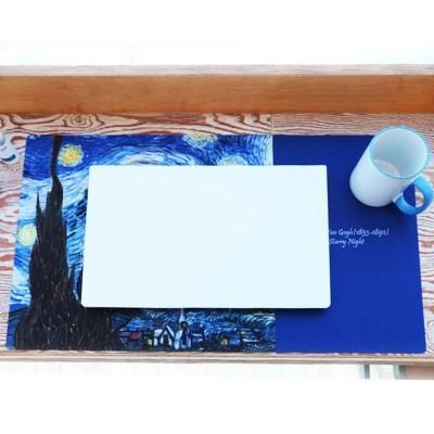 갤러리디엠 명화 고급 데스크패드 책상덮개 테이블패드
