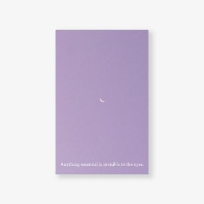 [메리필름] 감성 명언을 담은 글귀 미니 엽서 - 보랏빛 달