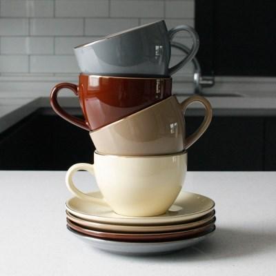 에크렌 골드 림(rim) 노블 커피잔1인세트 - 4color_(3182772)
