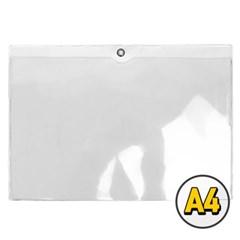 오피스존 투명 경질봉투 A4 가로 민 낱장 클리어 포켓