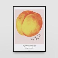 일러스트 포스터 / 인테리어 액자_peach 01