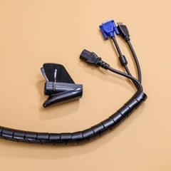 5M 스피드 전선정리 스네이크 커버 28mm