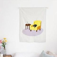 [주말특가] 낮잠 자는 고양이 패브릭포스터 외