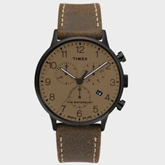 [TIMEX] 타이맥스 TW2T28300 남성 가죽 손목시계