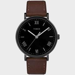 [TIMEX] 타이맥스 TW2R80300 남성 가죽 손목시계