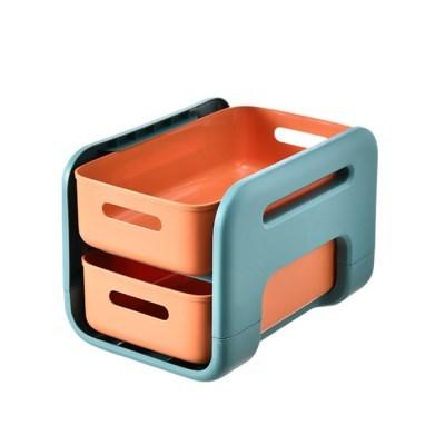 서랍형주방 욕실 바퀴형 이동식 선반(숏 오렌지 바퀴 X)