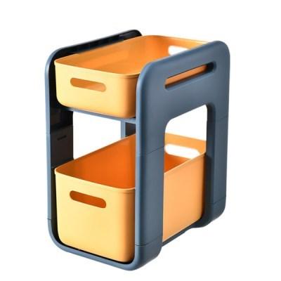 서랍형주방 욕실 바퀴형 이동식 선반(롱 옐로우 바퀴 X)