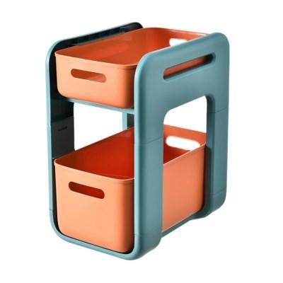 서랍형주방 욕실 바퀴형 이동식 선반(롱 오렌지 바퀴 X)