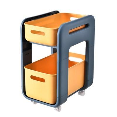 서랍형주방 욕실 바퀴형 이동식 선반(롱 바퀴형 옐로우 바퀴O)