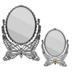 큐빅장식 나비 스탠드 화장 거울 탁상용