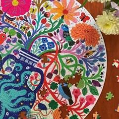 [이부] 새와 꽃들 500피스 라운드 퍼즐