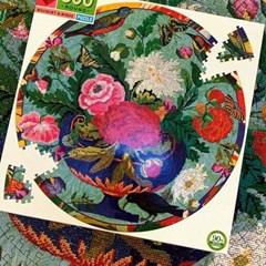 [이부] 새와 꽃다발 500피스 라운드 퍼즐