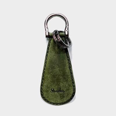 이태리 최고급가죽 슈혼키링 Olive (무료각인) [Pueblo Leather]