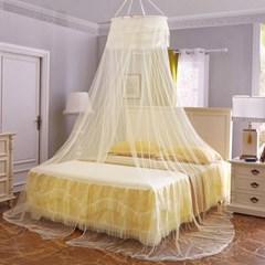 러블리 캐노피 침대 모기장(60x300cm) (라이트엘로우)
