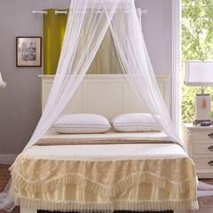 러블리 캐노피 침대 모기장(60x300cm) (화이트)