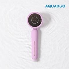 아쿠아듀오 블라썸 3단케어 샤워기필터 (퍼플)