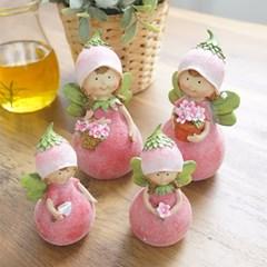 반짝이 꽃잎 요정 핑크 2P (2size)