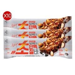 롯데 초단백질바 40g X 10/여름 필수템 단백질바/단밸질 영양설계