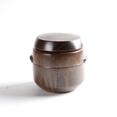 옹기 각 미니 4호 1.5kg 소금단지 현관 소금항아리