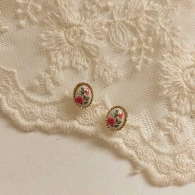 [봄밤달] 장미덩굴 귀걸이