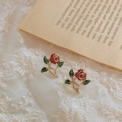 [봄밤달] 빈티지 로즈 귀걸이