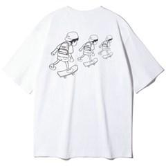 앨빈클로 꼬마 스케이트 보드 오버핏 반팔티 AST4357 (2 COLOR)