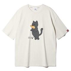 앨빈클로 붕어빵 고양이 오버핏 반팔티 AST4101 (3COLOR)
