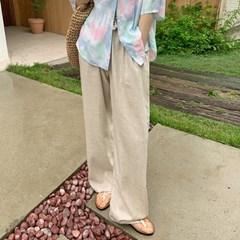 오리진 린넨와이드밴딩팬츠 (3color)