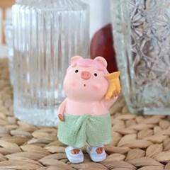핑크 돼지 샤워