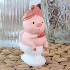 핑크 돼지 변기