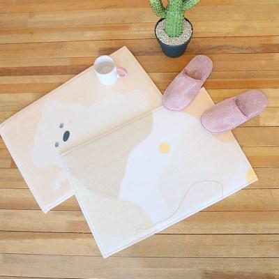 크리밀리 발매트 4종 화장실 욕실 사무실 주방 거실 애견용매트