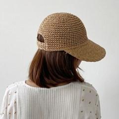 여름 밀짚 썬캡 모자 물결 여성 플로피햇 라피아 오리챙_(466556)