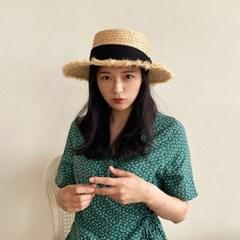 여성 여름 라피아 파나마햇 신혼여행 비치 모자 수술 밀짚 보터햇