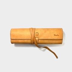 [주문제작]스크롤 펜슬케이스 Natural - Pueblo Leather (무료각인)