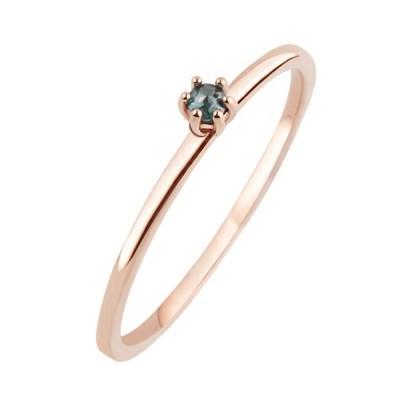10K/14K 2mm 솔리테어 천연 러프다이아몬드 반지