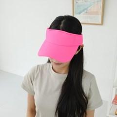 네온 벨크로 형광 챙넓은 데일리 패션 썬캡 모자