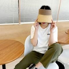주름 띠 벨크로 챙넓은 꾸안꾸 자외선차단 썬캡 모자